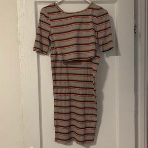 Promesa cropped top skirt set